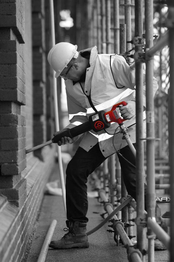 CP 0125 Pick hammer. Renovation work.